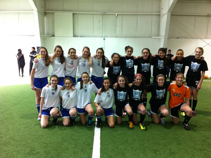 U14 Girls Tournament Finalists - CFC Extreme and Wilton